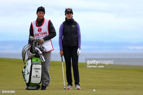 Sandra Gal of Germany looks on during the second round of the Ricoh Women's British Open at Kingsbarns Golf Links on August 4 2017 in Kingsbarns...