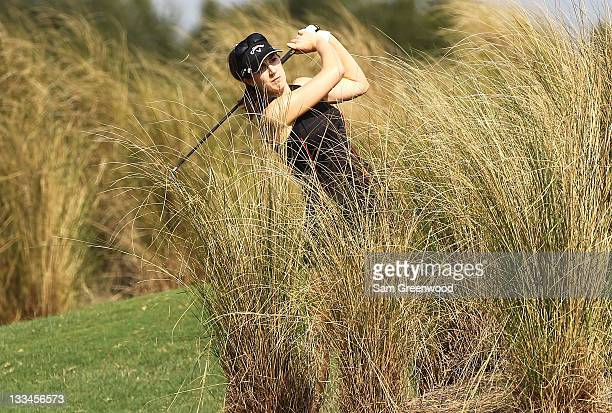 Sandra Gal of Germany plays a shot on the 6th hole during the third round of the CME Group Titleholders at the Grand Cypress Resort on November 19...
