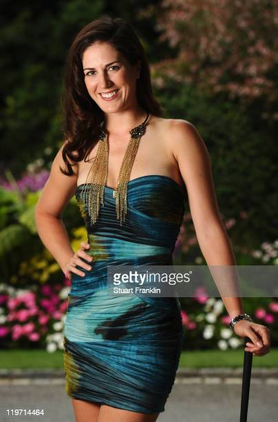 Sandra Gal of Germany poses for a picture at the gala dinner after the third round of the Evian Masters at the Evian Masters golf club on July 23...