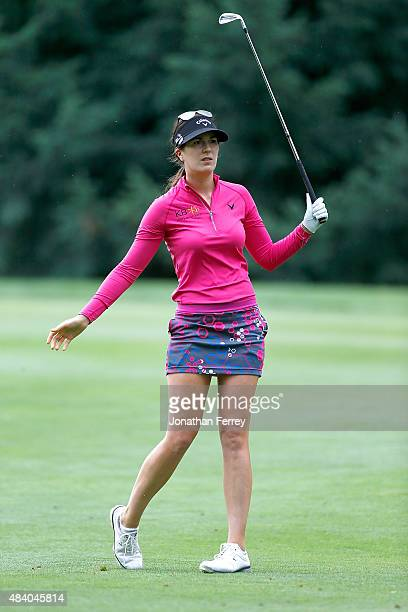 Sandra Gal of Germany tees hits on the 14th hole during the second round of the LPGA Cambia Portland Classic at Columbia Edgewater Country Club on...