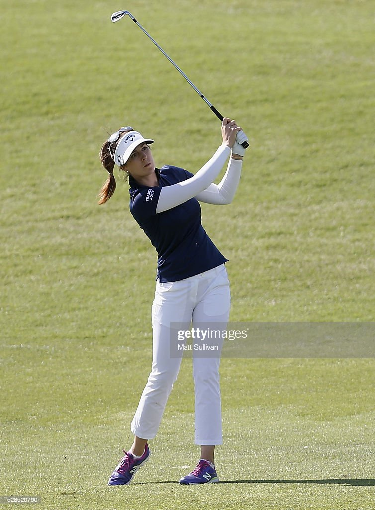 <a gi-track='captionPersonalityLinkClicked' href=/galleries/search?phrase=Sandra+Gal&family=editorial&specificpeople=2646550 ng-click='$event.stopPropagation()'>Sandra Gal</a> of Germany watches her second shot on the first hole during the Yokohama Tire Classic on May 05, 2016 in Prattville, Alabama.