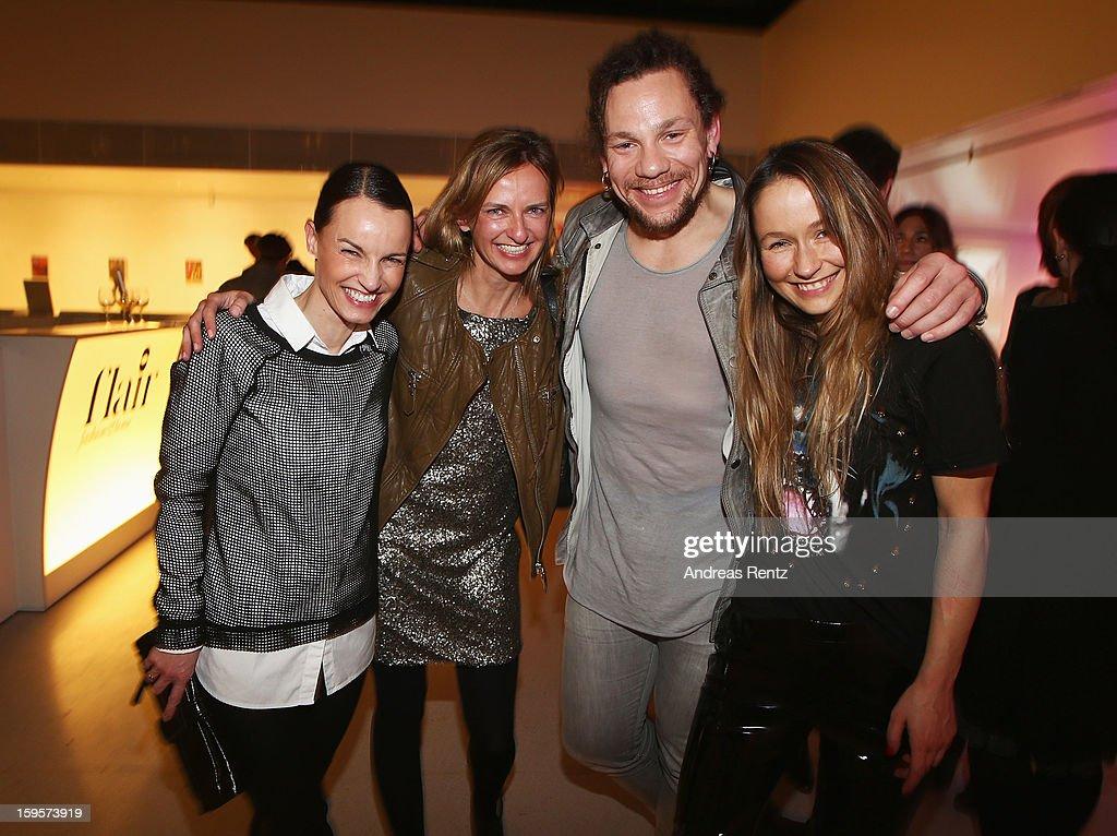 Sandra Holstein, Kathrin Jansen, Stefan Bickert and Izabela Kobza attend Flair Magazine Party at Pariser Platz 4 on January 15, 2013 in Berlin, Germany.