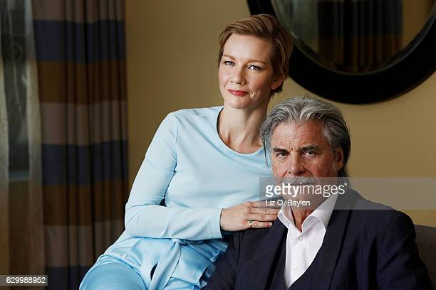 Sandra Huller and Peter Simonischek German dramedy 'Toni Erdmann' are photographed for Los Angeles Times on November 14 2016 in Los Angeles...