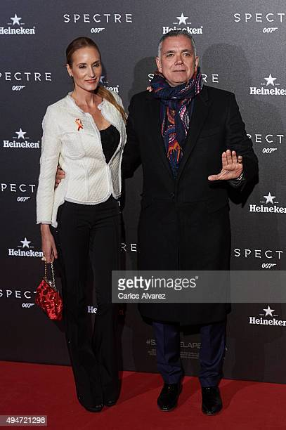 Sandra Ibarra and husband Juan Ramon Lucas attend the 'Spectre' premiere at the Royal Theater on October 28 2015 in Madrid Spain