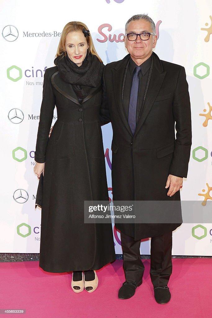 Sandra Ibarra and Juan Ramon Lucas attend the 'Pie Derecho' Music Awards 2013 at Callao cinema on December 12, 2013 in Madrid, Spain.