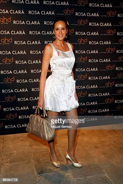 Sandra Ibarra attends the afterparty for the Rosa Clara show at Barcelona Bridal Week June 9 2009 in Barcelona Spain