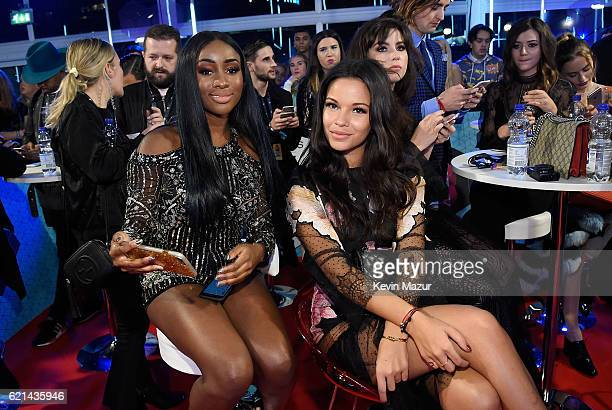 Sandra Lambeck and Monica Geuze attend the MTV Europe Music Awards 2016 on November 6 2016 in Rotterdam Netherlands