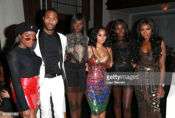 Sandra Lambeck Kendall Kyndall Duckie Thot Tammy Rivera Nikki Perkins and Jennie Jenkins attend the 2017 BET Awards Official After Party at Vibiana...