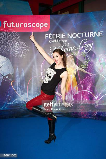 Sandra Lou attends the launch of the New Attraction 'Lady O' at Futuroscope theme park on April 14 2013 in Poitiers France