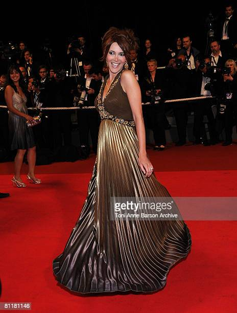 Sandra Lou attends the 'Maradona' premiere at the Palais des Festivals during the 61st Cannes International Film Festival on May 20 2008 in Cannes...