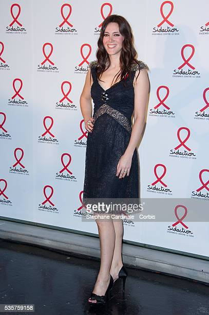 Sandra Lou attends the Sidaction 2012 Press Conference at Musee du quai Branly in Paris