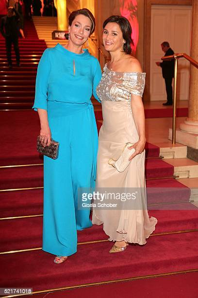 Sandra Maischberger and Aglaia Szyszkowitz during the 27th ROMY Award 2015 at Hofburg Vienna on April 16 2016 in Vienna Austria