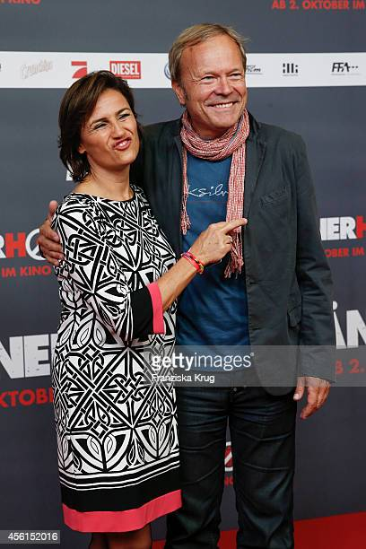 Sandra Maischberger and her husband Jan Kerhart attend the 'Maennerhort' Berlin Premiere on September 2 2014 in Berlin Germany