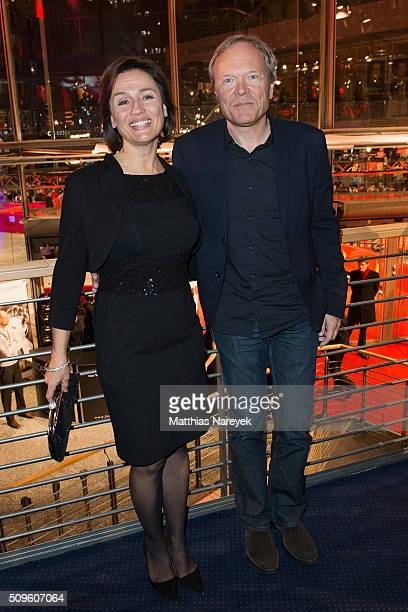 Sandra Maischberger and her husband Jan Kerhart attend the opening party of the 66th Berlinale International Film Festival Berlin at Berlinale Palace...
