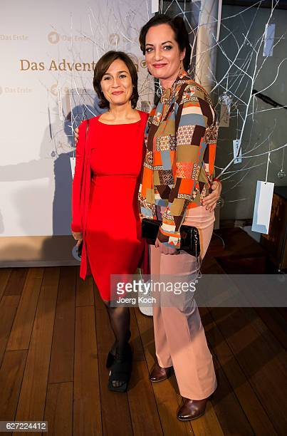Sandra Maischberger and Natalia Woerner during the ARD advent dinner hosted by the program director of the tv station Erstes Deutsches Fernsehen at...