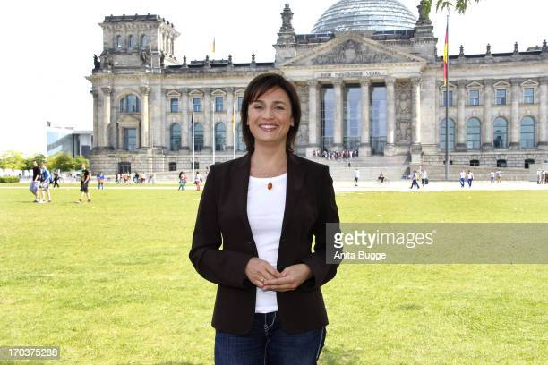 Sandra Maischberger attends a '16xDeutschland' On Set Photocall at the Reichstag on June 12 2013 in Berlin Germany
