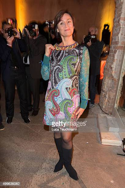 Sandra Maischberger attends Medienboard PreChristmas Party 2015 on December 2 2015 in Berlin Germany