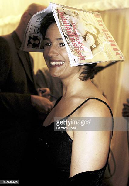 Sandra Maischberger attends the 50th anniversary party for Brigitte a German women's magazine on May 6 2004 at Cafe Moskau in Berlin Germany