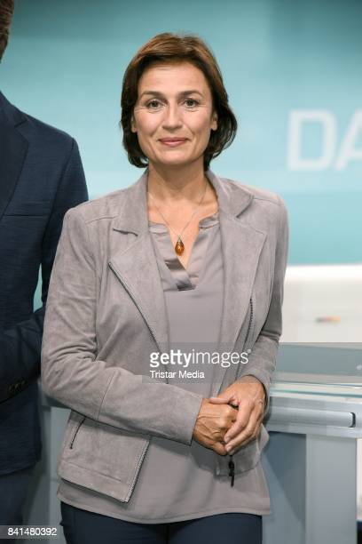 Sandra Maischberger during 'Das TVDuell Merkel Schulz' Press Preview at Studio Berlin Adlershof on September 1 2017 in Berlin Germany