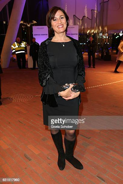 Sandra Maischberger during the opening concert of the Elbphilharmonie concert hall on January 11 2017 in Hamburg Germany