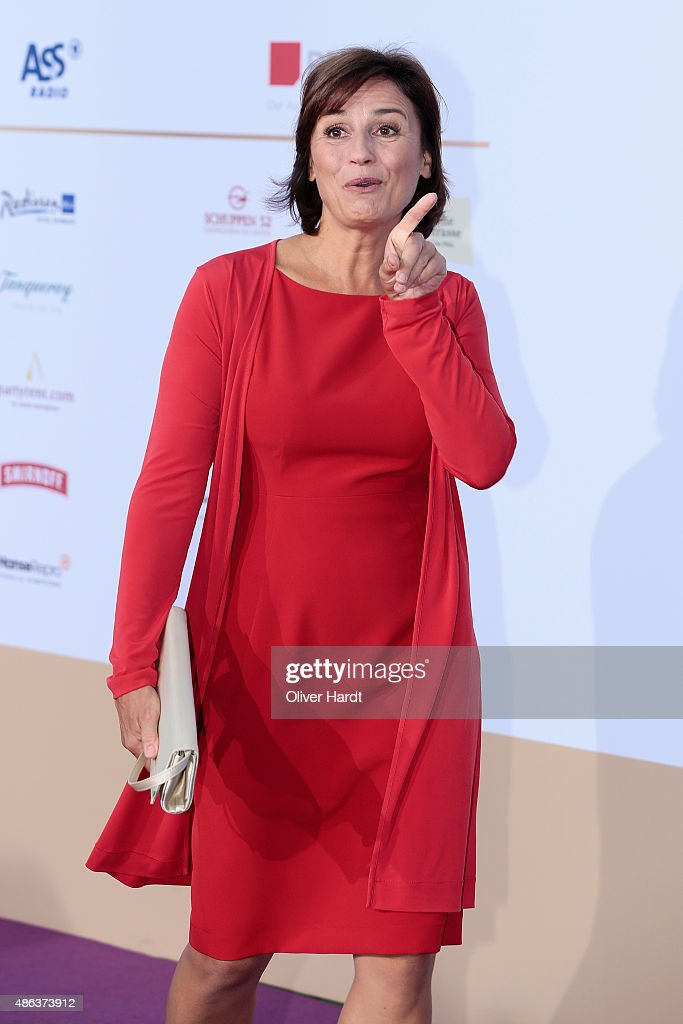 <a gi-track='captionPersonalityLinkClicked' href=/galleries/search?phrase=Sandra+Maischberger&family=editorial&specificpeople=636054 ng-click='$event.stopPropagation()'>Sandra Maischberger</a> poses during the Deutscher Radiopreis 2015 at Schuppen 52 on September 3, 2015 in Hamburg, Germany.