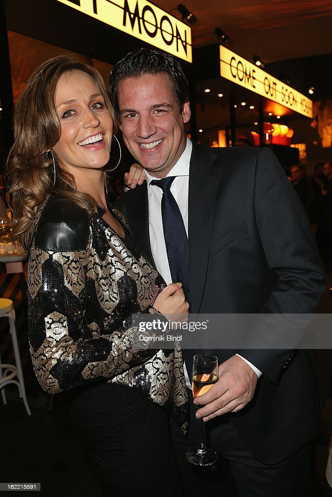 Sandra Maria Gronewald and Klaus Gronewald attend the Lazy Moon Dinner Club opening party on February 20, 2013 in Munich, Germany.