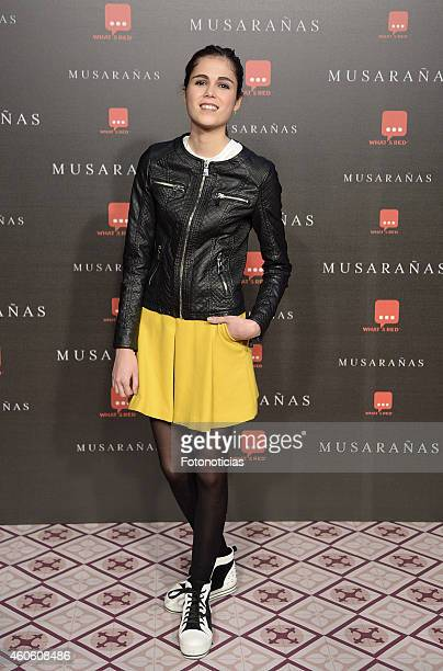 Sandra Marti attends the 'Musaranas' Premiere at the Capitol Cinema on December 17 2014 in Madrid Spain