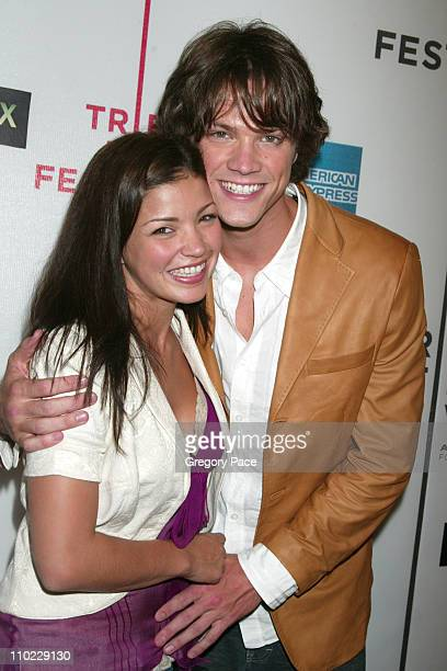 Sandra McCoy and Jared Padalecki during 4th Annual Tribeca Film Festival 'House of Wax' New York City Premiere Arrivals at Stuyvesant High School in...