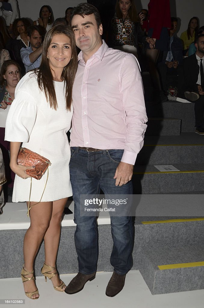 Sandra Menegotti and Alexandre Menegotti at the Forum show during Sao Paulo Fashion Week Summer 2013/2014 on March 19, 2013 in Sao Paulo, Brazil.