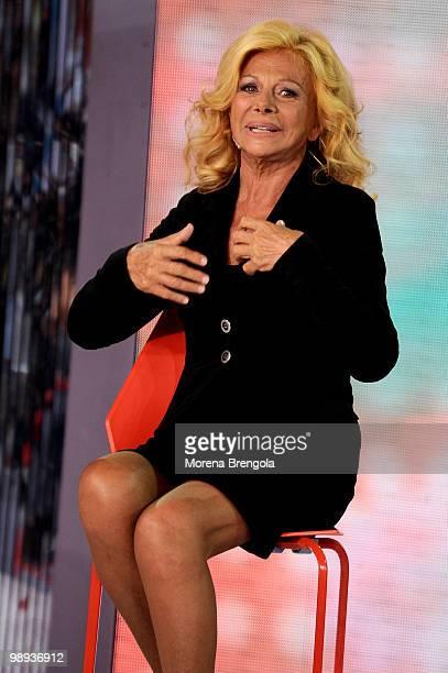 Sandra Milo appears on 'Quelli che il clacio' tv show on May 9 2010 in Milan Italy
