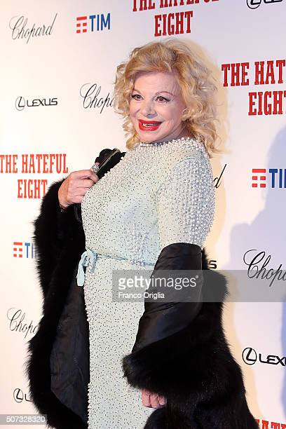 Sandra Milo walks the red carpet for 'The Hateful Eight' premiere at on January 28 2016 in Rome Italy