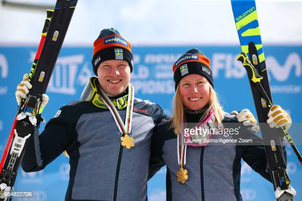 Sandra Naeslund of Sweden wins the gold medal Victor Oehling Norberg of Sweden wins the gold medal during the FIS Freestyle Ski Snowboard World...