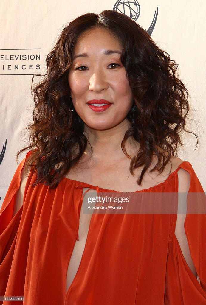 Sandra Oh at The Academy Of Television Arts & Sciences 'Welcome To ShondaLand: An Evening With Shonda Rhimes & Friends' held at The Leonard H. Goldenson Theatre on April 2, 2012 in North Hollywood, California.