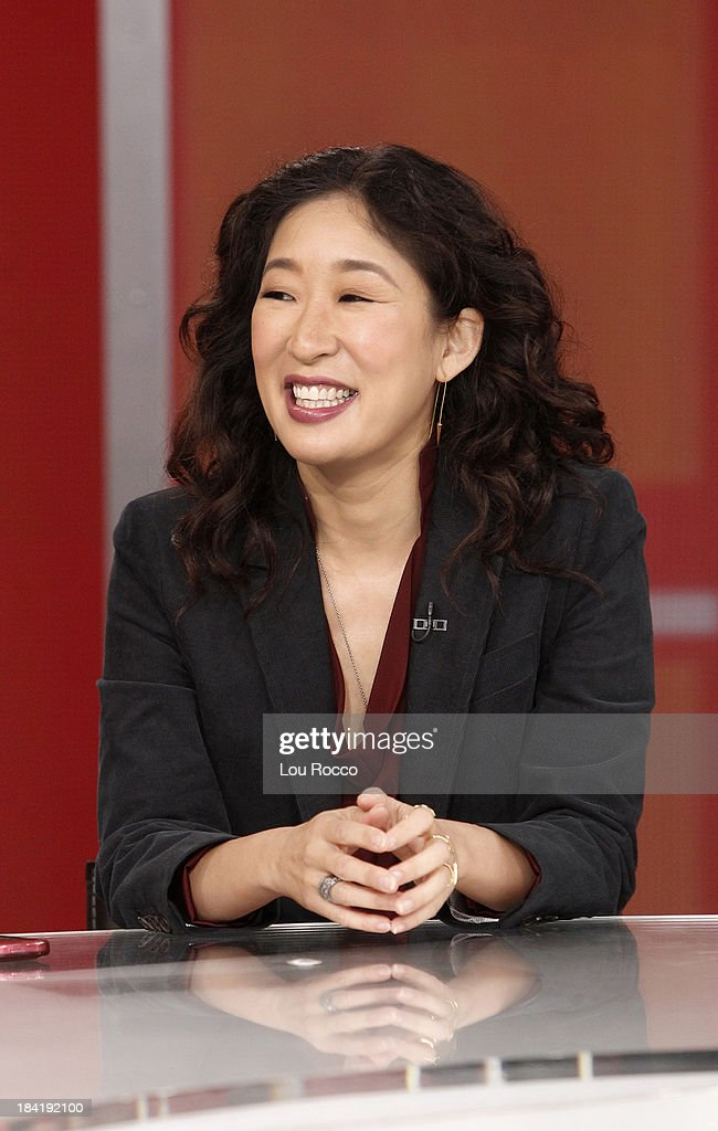 AMERICA - Sandra Oh of ABC's 'Grey's Anatomy' is a guest on 'Good Morning America,' 10/10/13, airing on the ABC Television Network. SANDRA OH