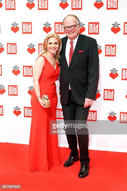Sandra Pabst and Andreas Fritzenkoetter attend the Ein Herz Fuer Kinder gala on December 3 2016 in Berlin Germany