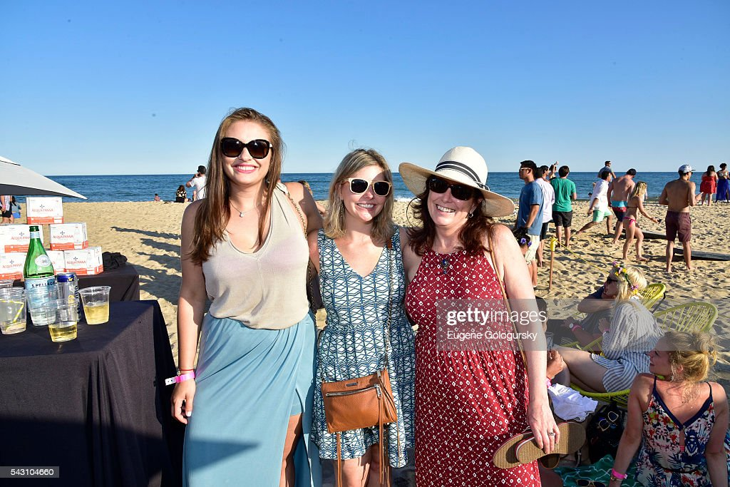 Sandra Parker, Kelly Howard, and Kathleen Gladstone attend the NYMag + San Pellegrino Beach Party at Gurney's Montauk Resort and Seawater Spa on June 25, 2016 in Montauk, New York.