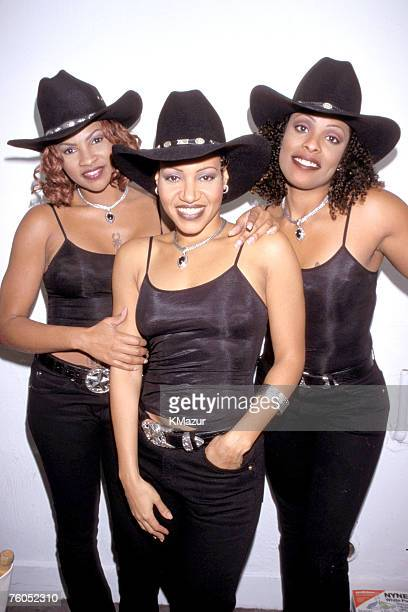 Sandra 'Pepa' Denton Cheryl 'Salt' James and Deidre 'Spinderella' Roper of SaltNPepa