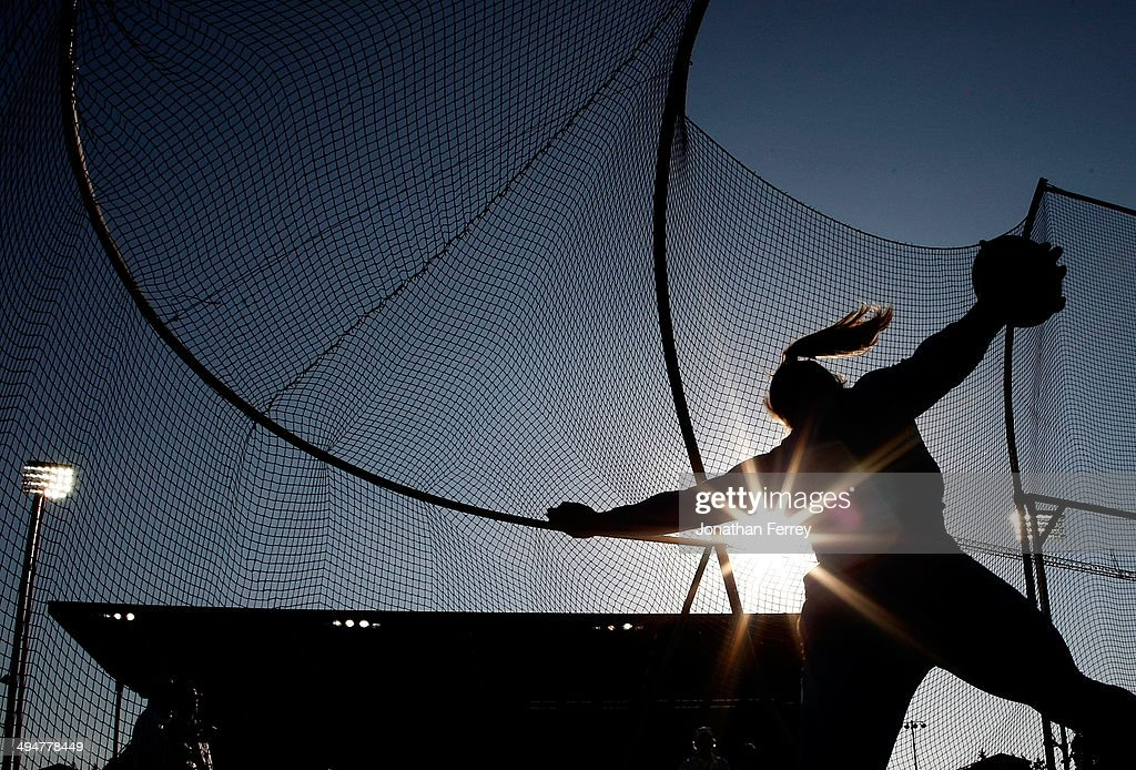 Sandra Perkovic of Croatia competes in the discus during day 1 of the IAAF Diamond League Nike Prefontaine Classic on May 30, 2014 at the Hayward Field in Eugene, Oregon.
