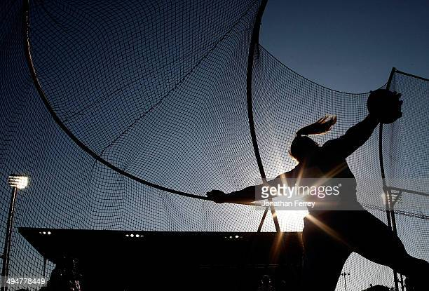 Sandra Perkovic of Croatia competes in the discus during day 1 of the IAAF Diamond League Nike Prefontaine Classic on May 30 2014 at the Hayward...