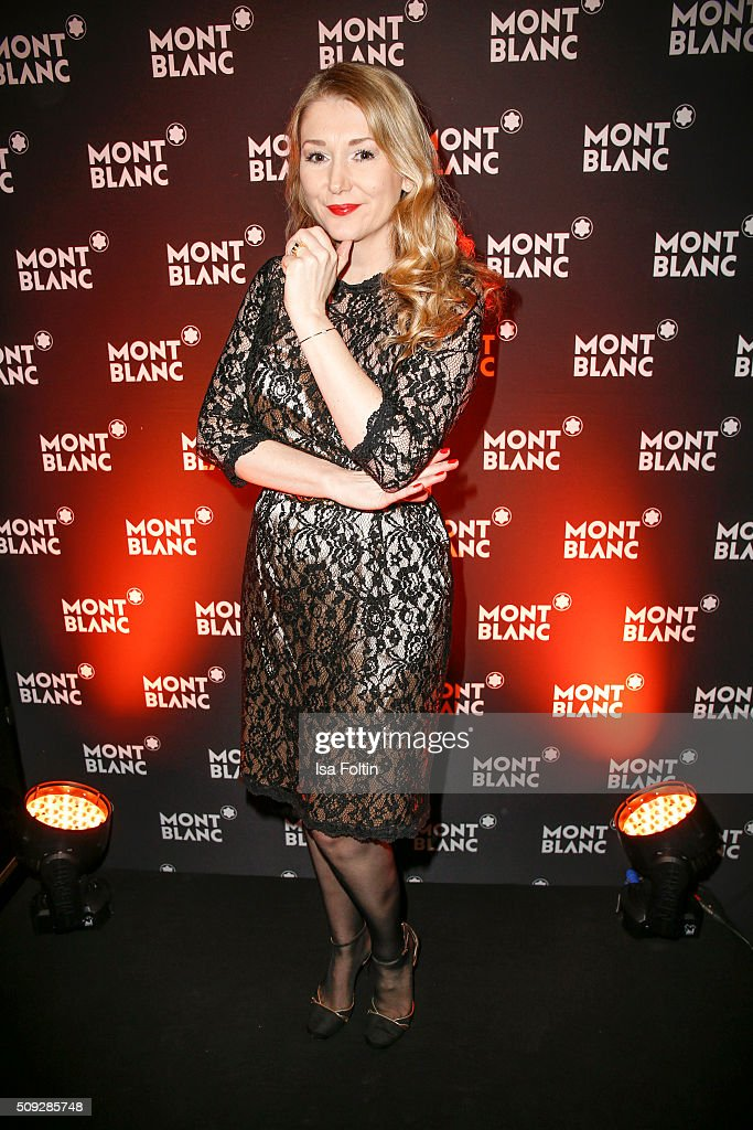 Sandra Quadflieg attends the Montblanc House Opening on February 09, 2016 in Hamburg, Germany.