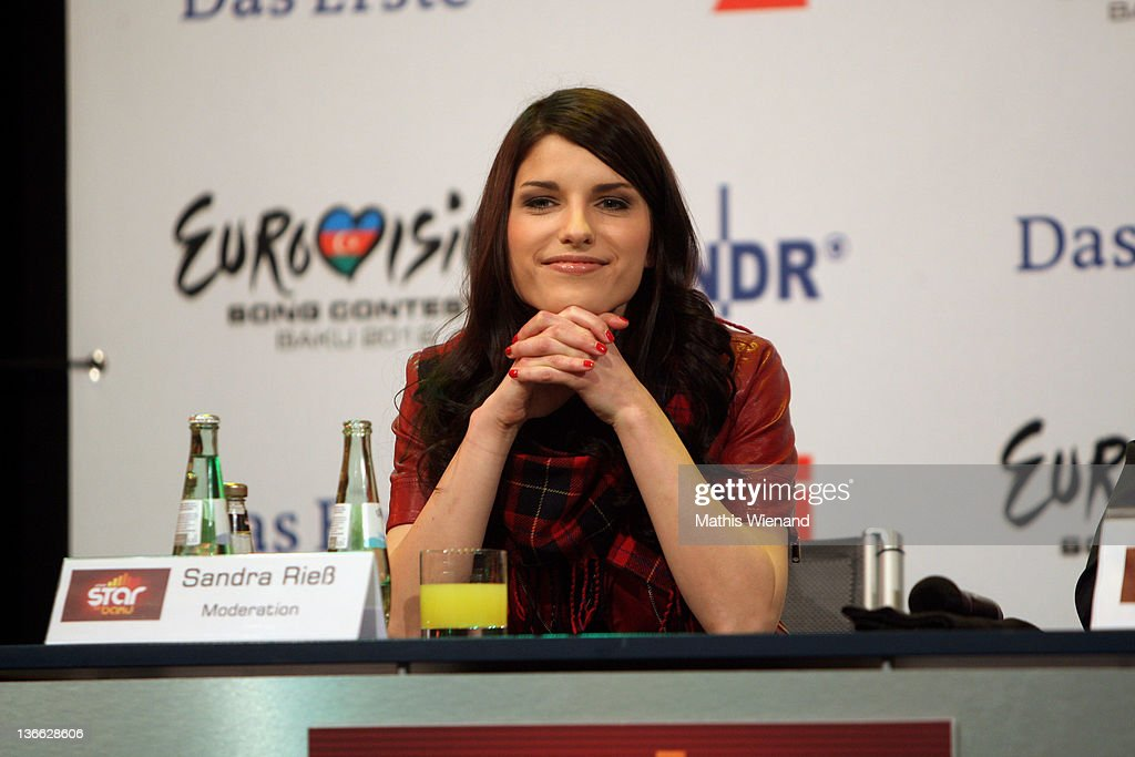 Sandra Riess attends the press conference of 'Our Star For Baku' at Brainpool Studios on January 9, 2012 in Cologne, Germany.