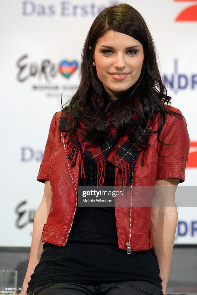 Sandra Riess poses during the press conference of 'Our Star For Baku' at Brainpool Studios on January 9, 2012 in Cologne, Germany.