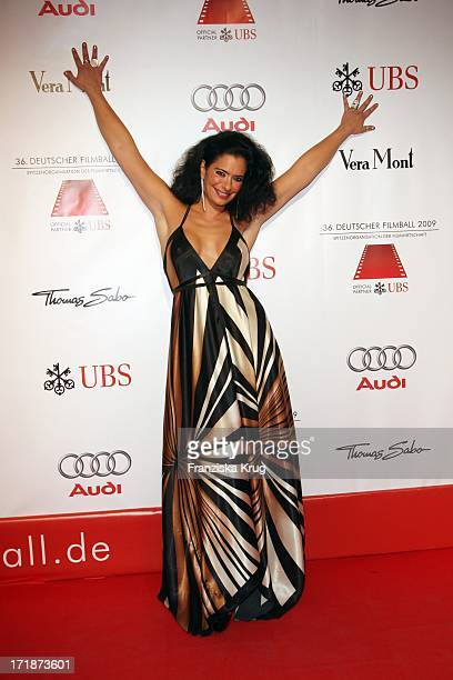 Sandra Speichert On Arrival to '36th German Film Ball' at Hotel Bayerischer Hof in Munich