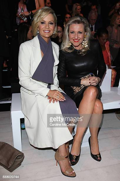 Sandra Sully and Angela Bishop attends the Oscar de la Renta show presented by Etihad Airways at MercedesBenz Fashion Week Resort 17 Collections at...