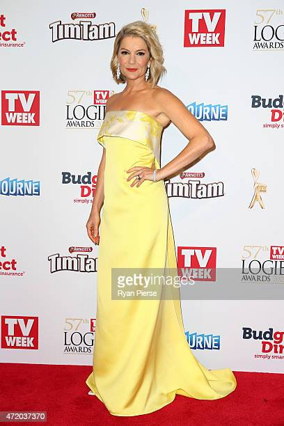 Sandra Sully arrives at the 57th Annual Logie Awards at Crown Palladium on May 3 2015 in Melbourne Australia