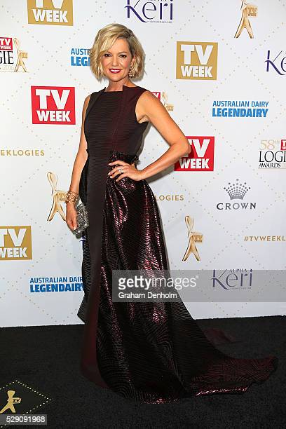Sandra Sully arrives at the 58th Annual Logie Awards at Crown Palladium on May 8 2016 in Melbourne Australia
