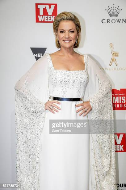 Sandra Sully arrives at the 59th Annual Logie Awards at Crown Palladium on April 23 2017 in Melbourne Australia
