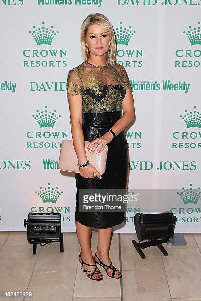 Sandra Sully arrives at the David Jones and Crown Resorts Autumn Racing Ladies Lunch at David Jones on April 4 2014 in Sydney Australia