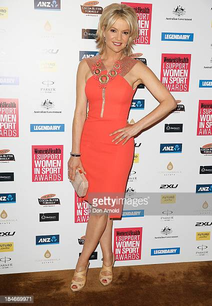Sandra Sully arrives at the 'I Support Women In Sport' awards at The Ivy Ballroom on October 15 2013 in Sydney Australia