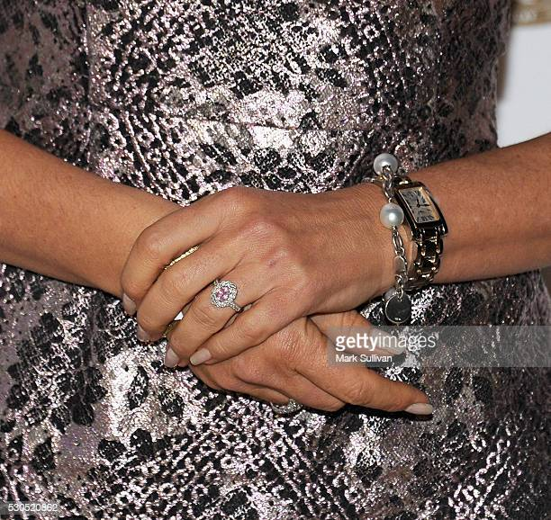 Sandra Sully jewelry detail arrives ahead of the Australian Survivor Launch Party on May 11 2016 in Sydney Australia